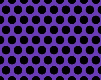 Knit Purple with Black Dots Fabric 1/2 yard