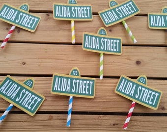 Sesame Street cupcake toppers personalized