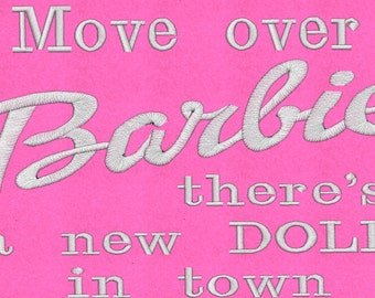 Barbie - Embroidered Cushion Cover