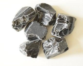 100g Natural Rough Black Obsidian Lot (Obsid02)