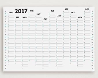 WHITE OUT 2017 Wall Planner