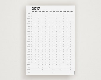 SYSTEM 2017 Wall Planner