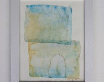 Ocean Blocks - Watercolor Art Print, Modern Home Decor, Giclee, Fine Art Print, Wall Art, Colorful Watercolor Art, Floral Art Print