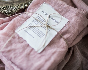 Muted Rose Plant Dyed Cotton Napkins