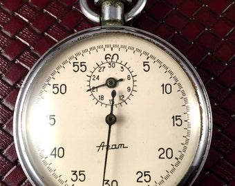"Vintage Soviet STOPWATCH CHRONOMETER  ""AGAT"".Soviet  Mechanical pocket watch!!!"