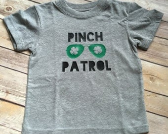 Toddler infant boy St. Patrick's Day shirt; Pinch Patrol