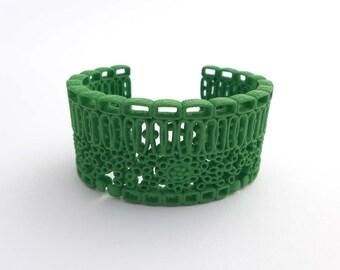 Leaf Anatomy Cuff Bracelet - Botany Science Jewelry