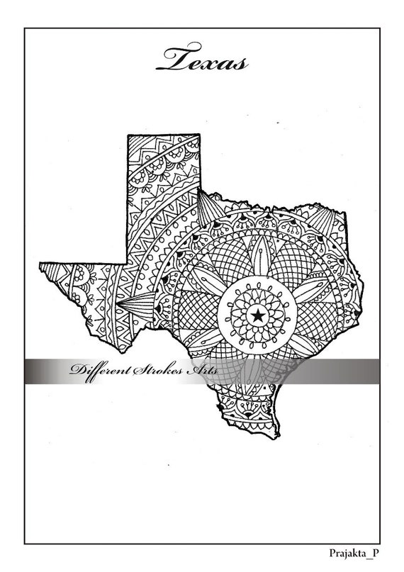 adult coloring maps Texas map states maps coloring pages us