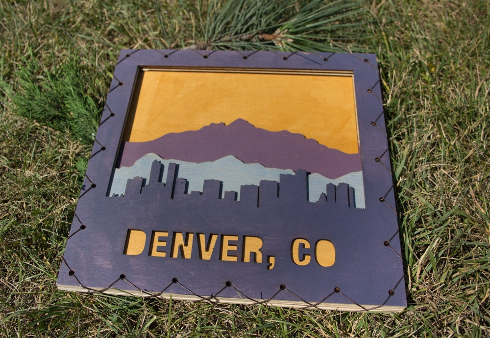 Denver Art Denver Wall Hanging Denver Decor Colorado Home Decor Colorado Decor Denver Decorating Idea