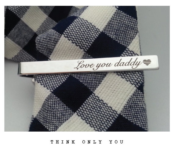 monogram tie bar initials groomsman gift custom