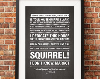 National Lampoons Christmas Vacation Quotes - Jpeg - A4 + Letter + 8x10 - INSTANT DOWNLOAD - Digital Print - Wall Art - Printable Poster