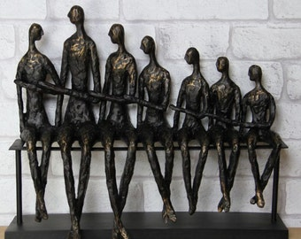 Group of Spectators Abstract Sculpture, Antique Bronze Finish. 357152