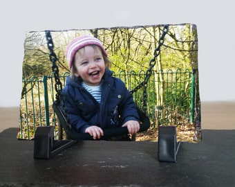 Personalised Photo Slate - Transfer your picture onto a photo slate. A gift for all occasions - Available in 4 sizes