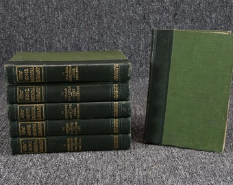 The Home Medicinal Library Full 6 Volume Set By Review Of Reviews Co. 1907  RARE