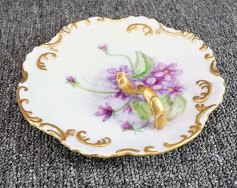 Vintage Serving Plate With Nappy Handle