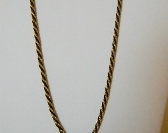 TRIFARI Gold Black Twisted Rope Chain Necklace