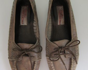 Vintage Brown Candies Fastrack Loafers