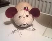 Mushroom fabric, Mouse shaped pin cushion