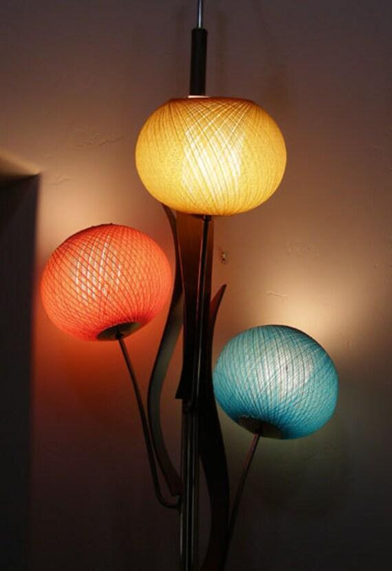 Vintagemid Century Modern Spun Fiberglass Floor Pole Lamp Hold