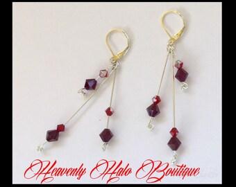 Swarvoski crystal and silver earrings jewelry assessories weddings brides