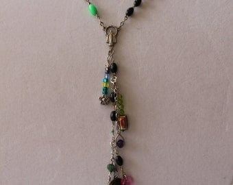 necklace made from vintage rosaries
