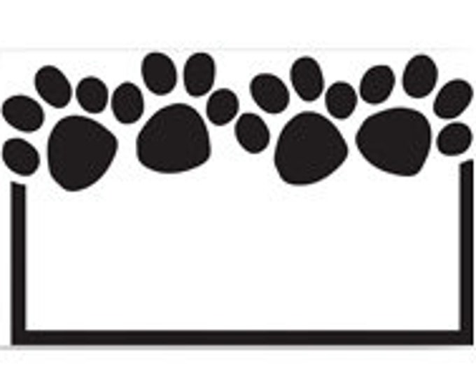 Paw Print Cards Enclosure Cards Cute Paw Print Gift Card Note Card For Pets Gift Note Card Wrapping Paper Paper Party Supplies
