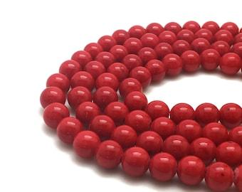 10mm Red Mashan Jade Beads 37 Beads Red Mountain Jade Beads Candy Jade Beads 10mm Mashan Jade 10mm Red Jade 10mm Jade Beads 10mm Red Beads