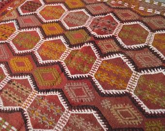 FREE SHIPPING Vintage Geometrical Pattern Turkish Cicem kilim
