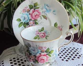 Paragon Flower Festival B Bone China Tea Cup and Saucer - Made in England