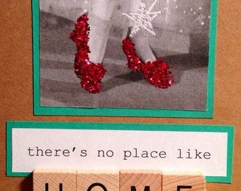 New Home Card. Handmade. There's no place like home