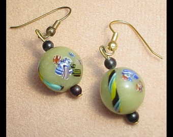 Vintage Mosaic Bead Earrings