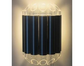 Raak Septiem aluminum and plexiglass wall light, Dutch, 1960s