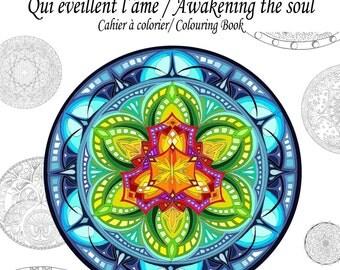 Mandalas coloring book - art therapy - visionary art - Coloring - coloring book - Mandala