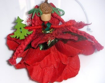 Acorn Fairy Doll Handmade by Christine's Boutique - Christmas