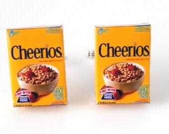 Miniature Cheerios Cereals Cufflinks,wedding cufflinks, gifts, cereals, cheerios, breakfast