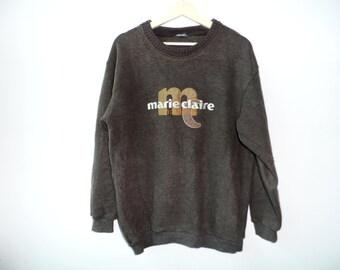 Vintage Marie Claire Homme Sweater shirt hiphop punk streetwear Medium Size