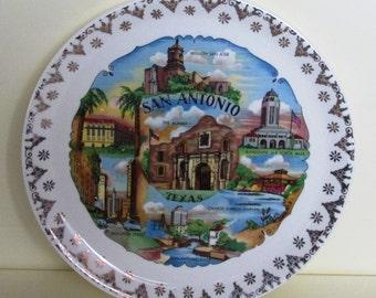Vintage San Antonio, Texas Souvenir Plate