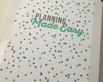 Planning Made Easy Binder Cover! Perfect for the Mini or Standard Binders!