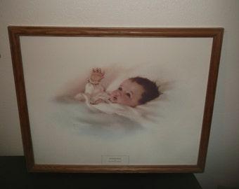 AWAKENING By Bessie Pease Gutmann Framed Print NICE!!