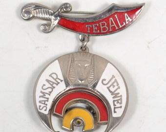 "Sword ""Tripoli"", Sphinx Head with ""Samsar Jewel' on Crescent Moon Pin"