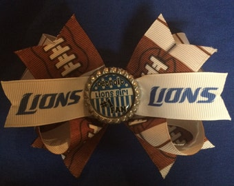 Detroit Lions hairbow