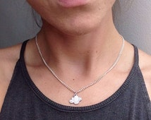 The Sliver Linings Necklace - Little cloud charm necklace on 14 inch silver plated chain.