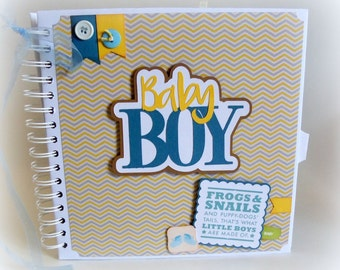 Grandma BRAG BOOK for new Baby Boy new baby premade scrapbook photo book keepsake baby shower gift new mom baby sprinkle sip and see