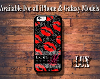 iPhone 6 Case/ Red Lips iPhone 6 Plus Case/ Damask iPhone 5/5S Case/ iPhone 4/4s Case
