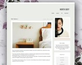 Premade Blogger Template - Old Grey
