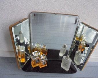 French vintage vanity mirror/mirroir/3 Liège 60s midcentury mirror
