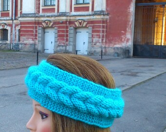 knitted head bandage,handmade .