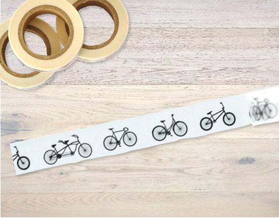 Nastro adesivo con bianco e nero le biciclette del nastro di - Specchio adesivo rotolo ...