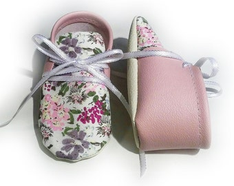 light pink floral shoes