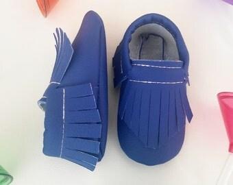 Blue moccasins